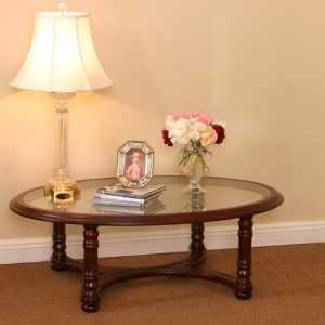 4057---Lexington-Oval-Coffee-Table-Glass-Top