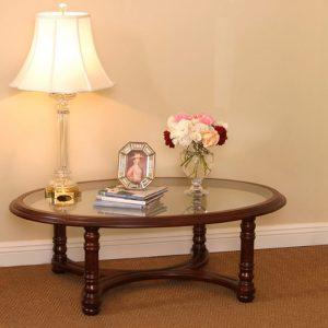 4057---Lexington-Oval-Coffee-Table-Glass-Top