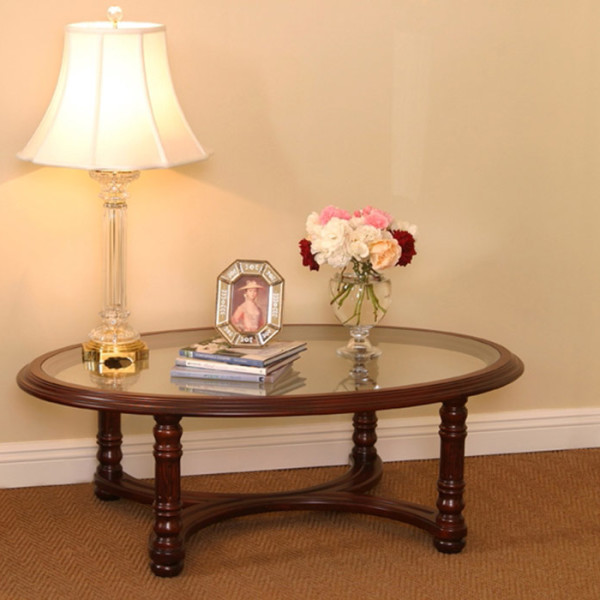 Lexington Coffee Table Oval Glass Hartmann Keppler