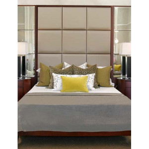 Legacy Headboard With Mirror Panels & Base Frame