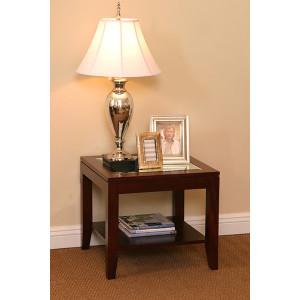 Tessa Lamp Table Mirror Top With Shelf