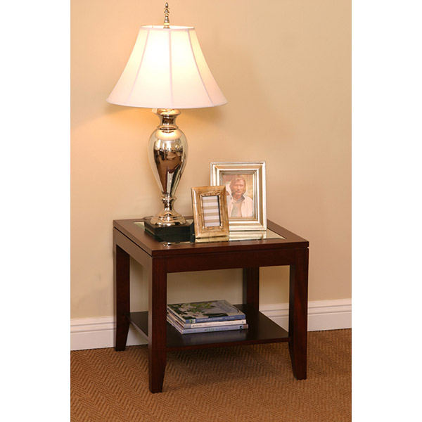 Tessa Lamp Table Mirror Top With Shelf